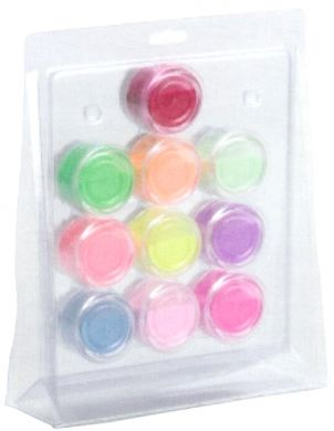 10 x 10g Coloured Axrylic Powders