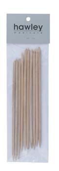 4013C 10 pk 6'' Point & Bevel Orange Sticks