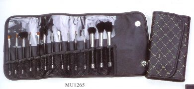 CB114 pc Cosmetic Brush Set in a foldable case