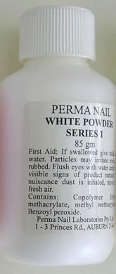 Perma Acrylic Powder Series 1-White-85g