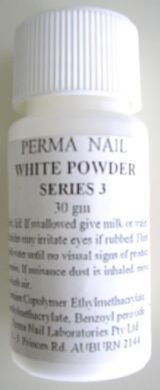 Perma Acrylic Powder Series 3-White-30g