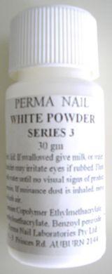 Perma Acrylic Powder Series 3-White-30g