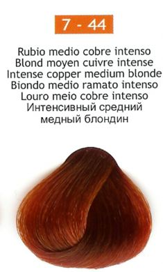 7-44 Intense Copper Medium Blonde