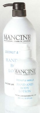 Mancine Hand & Body Lotion Coconut & Vanilla 250ml