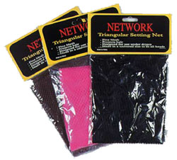 Network  Trianglular Setting Nets-Black, Brown, Pink, Blue