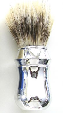 SB3-Eterna Style Metallic Silver Shaving Brush