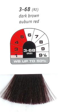 3-68 (R2)-Dark Brown Auburn Red-Igora Royal 60g