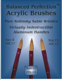 Balanced Perfection Pure Kolinsky Sable Bristle Acrylic Brush Size 10