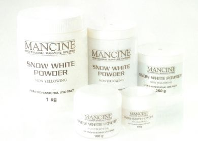 Mancine Acrylic Powder-Snow White 100g