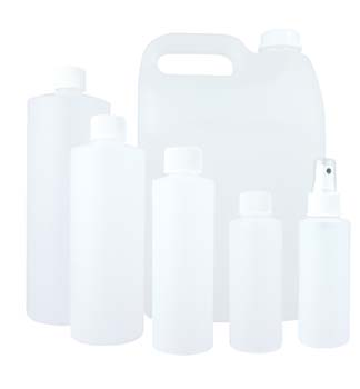 Plastic Bottle Natural with Cap 1000ml