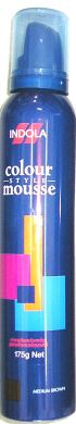 Indola Colour Mousse 175g-Medium Brown