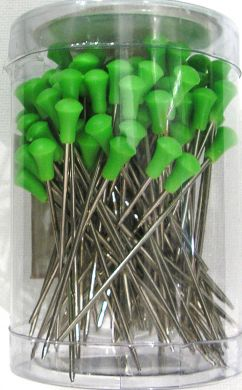 999 Stainless Steel Roller Pins 100pcs-Green Head
