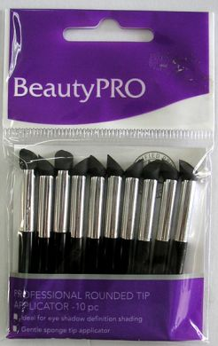 Beauty Pro Professional Rounded Tip Applicators (short)-Pack of 10