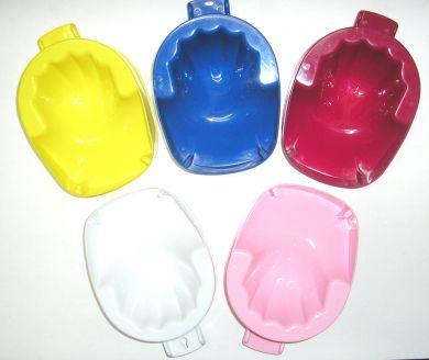 """Nirvana"" Manicure Bowls-Plastic-Maroon"