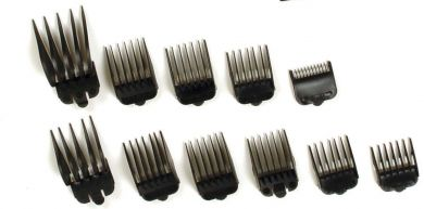 "Wahl #10 Plastic Tab Attachment Clipper Comb 1 1/4"" Black"