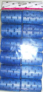 "TM 15/1 "" Very Good"" Velcro Hair Rollers with Aluminium Core (Regular Tape)-Blue Colour-50mm Dia-12/pack"