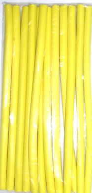 "BR3 ""Very Good"" Bendy Rollers Dia 12mmx240mm long-Light Yellow-pack of 12"