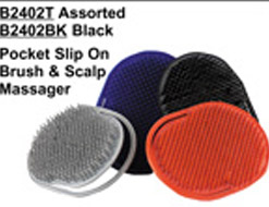 Pocket Slip On Brush & Scalp Massager