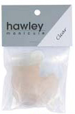 Hawley Nail Tips- Clear (Ultra Shaped) 50/pack-Size#9