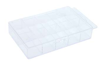 4008-Empty PVC Nail Case-Clear (Holds 250)