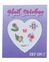 4023B1-Nail Jewellery Small with 5 Stick on Decals with Diamantes