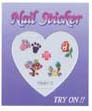 4023B2-Nail Jewellery Small with 5 Stick on Decals with Diamantes