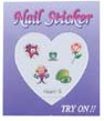 4023B5-Nail Jewellery Small with 5 Stick on Decals with Diamantes
