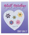4023B6-Nail Jewellery Small with 5 Stick on Decals with Diamantes