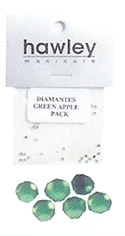 4103A- Hawley Diamantes 25 Pack-Green Apple