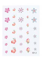 4023-TD3 Finger Nail & Toe Nail Stickers-30 Stickers