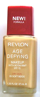 Revlon Age Defying make Up with Botafirm SPF15-Dry Skin- New Formula-15ml Soft Beige