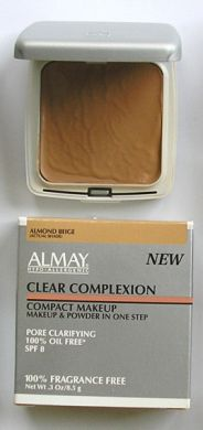 Almay (Hypo-Allergenic) Clear Complexion Compact Make-Up Powder (Oil Free & Pore Clarifying) 11.3g Almond Beige
