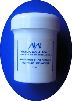 Nouveau Nail Advanced Formula Acrylic Powder 2oz (57g)- Soft White