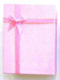 Gift Box 3- Made of Card Box-Pink Glitter