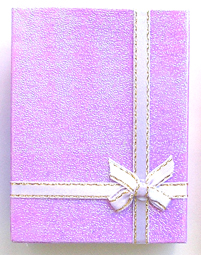 Gift Box 3- Made of Card Box-Purple Glitter