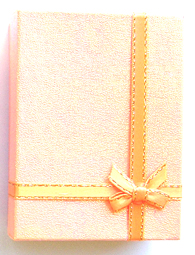 Gift Box 3- Made of Card Box-Orange Glitter