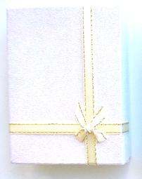 Gift Box 3- Made of Card Box-Silver Glitter