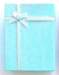 Gift Box 3- Made of Card Box-Aqua Glitter