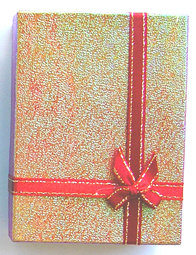 Gift Box 3- Made of Card Box-Multi Shade Glitter