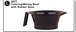 Transparent Grey Tint Bowl with Rubber Base