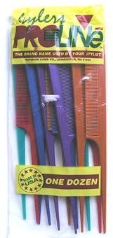 Prostylers 12 Pack Tail Combs in Assorted Colours