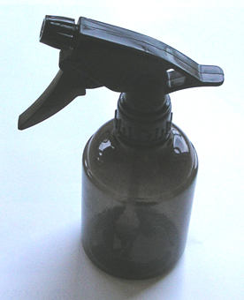 Toughened Plastic Water Sprayer in Transparent Grey/Black Colour