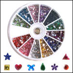 Pre-Packed Rhinestone Wheels 1200ct-Shape-Round