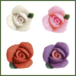 Blooming Illusions Acrylic Roses 10ct-Purple