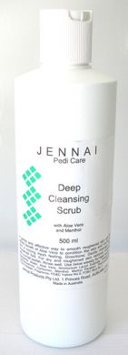Jennai Deep Cleansing Scrub with Aloe Vera & Menthol 500ml