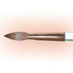 Xtreme Nail Pure Kolinsky Sable Acrylic Brush Size-18, Clear Lucite Handle.