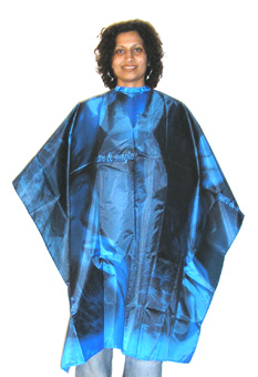 H&B High Quality 100% Waterproof Nylon Woven Hairdressing Capes