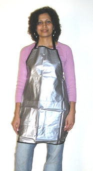 H&B Stylist Apron-Silver with Black Border