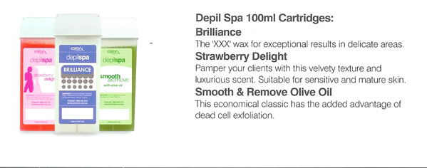 Caron Depilspa 100ml Cartridge for Roll on Waxing System-Brilliance XXX