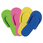 Thong-Style Pedicure Slippers 1pr-Assorted Colours